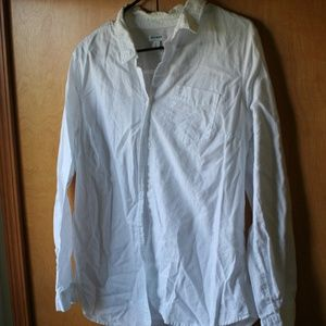 Old Navy White Button Up - Large